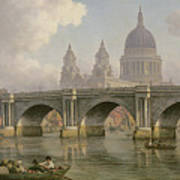 Blackfriars Bridge And St Paul's Cathedral Art Print