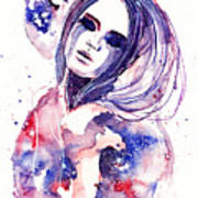 Lacrima Nebula  Art Print by Alexandra-Emily Kokova
