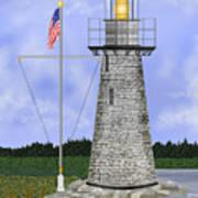 Ladies Delight Lighthouse Maine Art Print