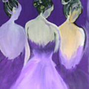 Ladies In Purple Art Print