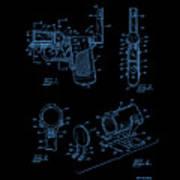 Ladies Pistol Compact Patent Art Art Print