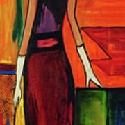 Bichon Frise Lady Art Print