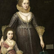Lady Cavendish Later Countess Art Print