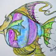 Lady Fish  Art Print