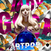 Lady Gaga Graphic Art Art Print