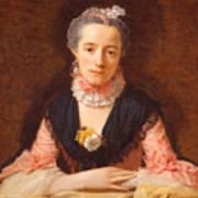 Lady In A Pink Silk Dress Art Print