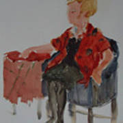 Lady In Chair Art Print