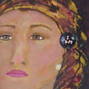 Lady In Head Scarf  Art Print