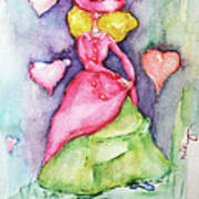 Lady In Love Art Print