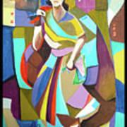 Lady In Mosaic Art Print