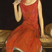 Lady In Red - Mrs Owen Barton Jones Art Print