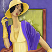 Lady In The Yellow Hat Art Print by Sydne Archambault