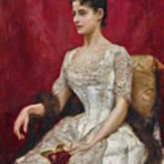 Lady In White Art Print