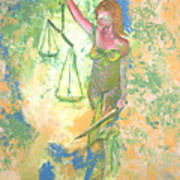 Lady Justice And The Man Art Print