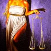Lady Justice Long Scales Art Print