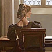 Lady Near The Window Art Print