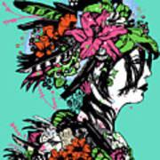 Lady Of The Garden Art Print