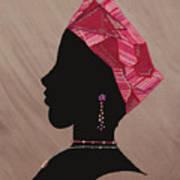 Lady Pink Art Print
