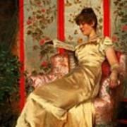 Lady Reading Art Print by Joseph Frederick Charles Soulacroix