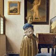 Lady Standing At The Virginal Art Print