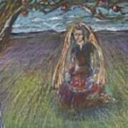 Lady Under A Tree Art Print