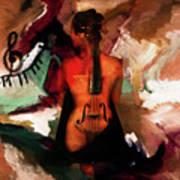 Lady Violin 01 Art Print