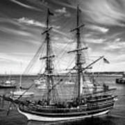 Lady Washington In Black And White Art Print