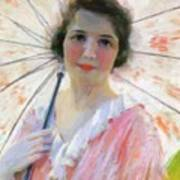 Lady With A Parasol 1921 Art Print