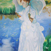 Lady With A Parasole  Art Print