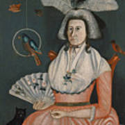 Lady With Her Pets. Molly Wales Fobes Art Print