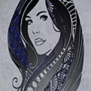 Lady Zen Art Print