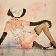 Ladyinhat03 - Watercolor Art Print