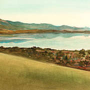 Lago Del Coghinas Art Print