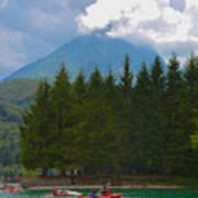 Lago Di Barcis Art Print