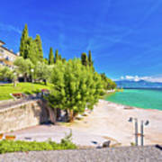 Lago Di Garda Beach In Sirmione View Art Print