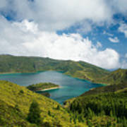 Lagoa Do Fogo Art Print