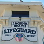 Laguna Beach Lifeguard Tower Art Print