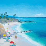 Laguna Beach Umbrellas Art Print