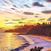 Laguna Village Sunset Art Print