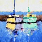 Lahaina Boats Art Print