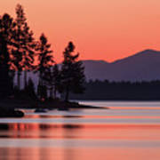 Lake Almanor Twilight Art Print