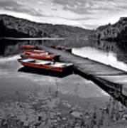 Lake And Boats Art Print
