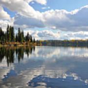 Lake And Clouds Art Print