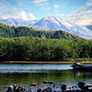 Lake And Volcano Art Print