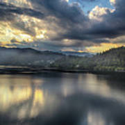 Lake Bled Sunset Art Print