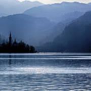 Lake Bled Twilight Art Print