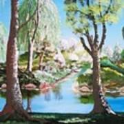 Lake Blue. Art Print