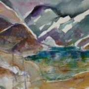 Lake Collage Art Print