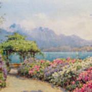 Lake Como From The Villa Carlotta Art Print