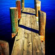 Lake Dock Art Print